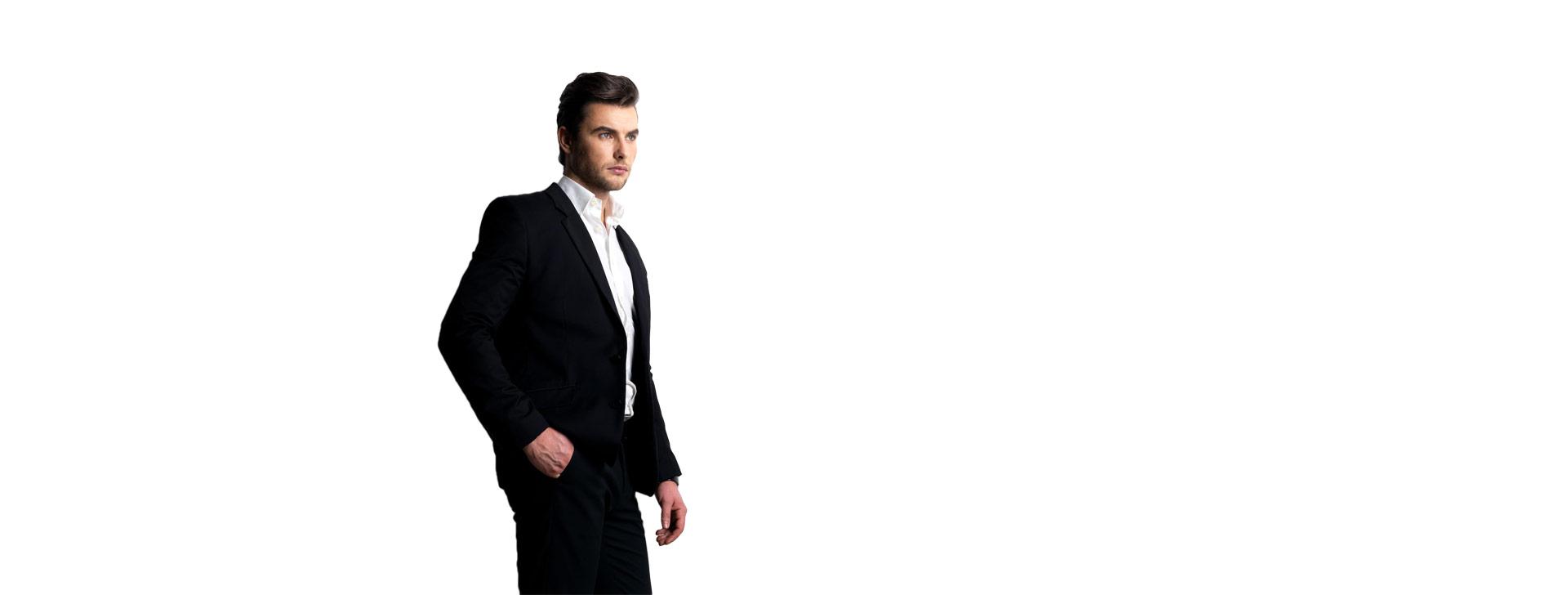 man-in-black-suit